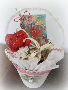 My Shabby Chateau: Valentine's Day Peat Pots