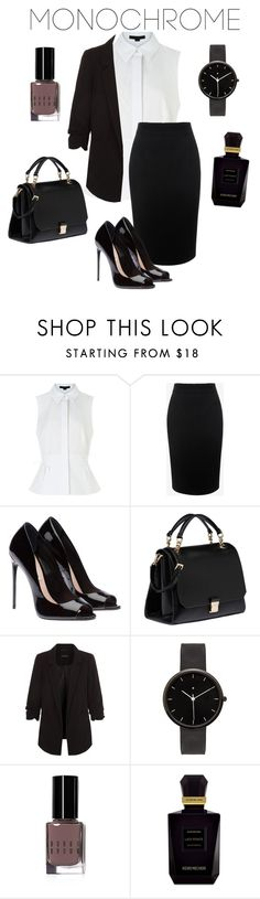 """girl"" by paulitamrz ❤ liked on Polyvore featuring Alexander Wang, Alexander McQueen, Miu Miu, New Look, I Love Ugly, Bobbi Brown Cosmetics, Keiko Mecheri and monochrome"