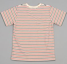 Striped Crew Neck T-Shirt by Archival Clothing