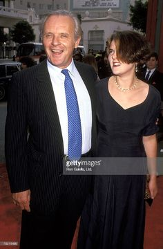 Dad and daughter. Anthony Hopkins and Abigail Hopkins.