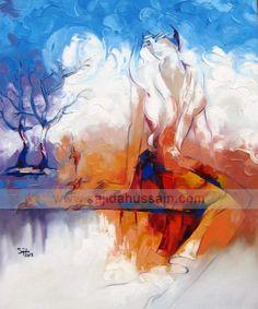Fine Artist of Pakistan Oil Paintings, Modern Pakistani Art Oil Painting oil paintings for sale Art Prints For Sale, Modern Art Prints, Oil Painting For Sale, Artist Painting, Bob Ross, Modern Art For Sale, Spring Art Projects, Art Oil, Creative Art