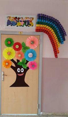 İlkbahar sınıf kapısı