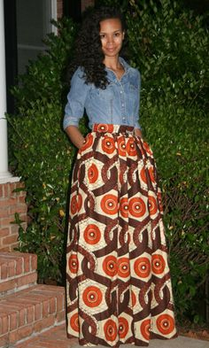 African Print skirt   African Print Maxi Skirt