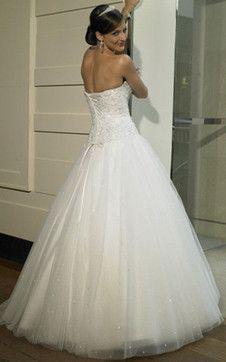 ärmellos Duchesse-Linie Herz-Ausschnitt bodenlanges romantisches formelles Brautkleid