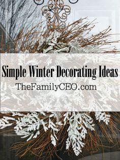 Simple winter decorating ideas @ TheFamilyCEO.com