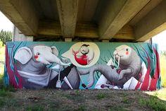 Beautiful street art by Zed1 in Certaldo, Italy  his website: http://www.zed1.it/