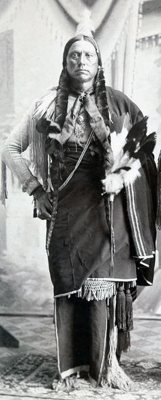 Quanah Parker c1890 - Collodion Silver Print image of Quanah Parker - He was the son of Comanche chief Peta Nocona and Cynthia Ann Parker, an English-American. Born 1845 or 1852. A Comanche chief, Founder of the Native American Church & peyote religion. He was one of the last Comanche chiefs. The US appointed Quanah principal chief of the entire nation once the people had gathered on the reservation.