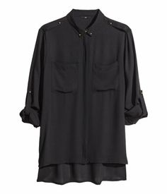 Product Detail | H&M US Black Chiffon Blouse