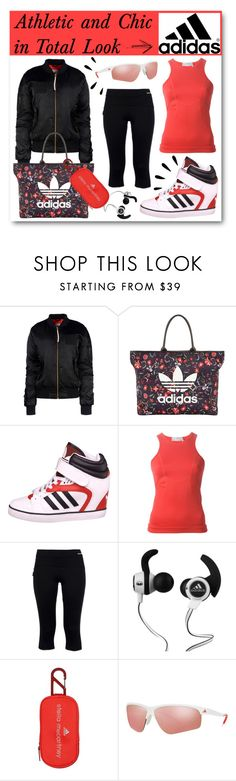 """Athletic and Chic in Total Look Adidas"" by drinouchou ❤ liked on Polyvore featuring adidas Originals, adidas, Porsche Design Sport, Monster and Old Navy"