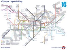 London Underground map for the Olympic Games. London Tube Map, London Map, London Places, London Live, Mayor Of London, London Transport, Public Transport, Messi, Station Map