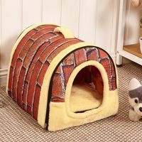 3 Colors Pet Products New Arrival Dog Bed Free Shipping Pet House Washable Pet Circular House Easy to Clean Durable Size S M L