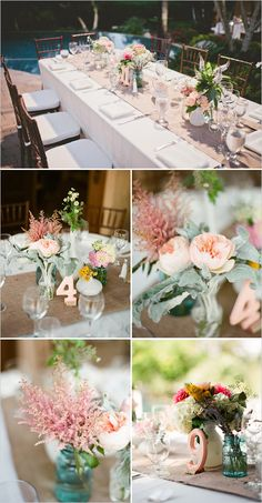 23 Ideas For Wedding Table Settings Pink Burlap Runners Wedding Table Centerpieces, Wedding Table Settings, Reception Decorations, Wedding Tables, Wedding Receptions, Chic Wedding, Trendy Wedding, Rustic Wedding, Dream Wedding
