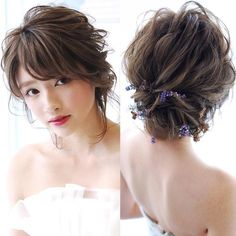 Wedding updo with bangs Party Hairstyles, Bride Hairstyles, Summer Hairstyles, Cool Hairstyles, Bridal Hairdo, Hairdo Wedding, Bridal Hair Pins, Hair Arrange, Gorgeous Hair