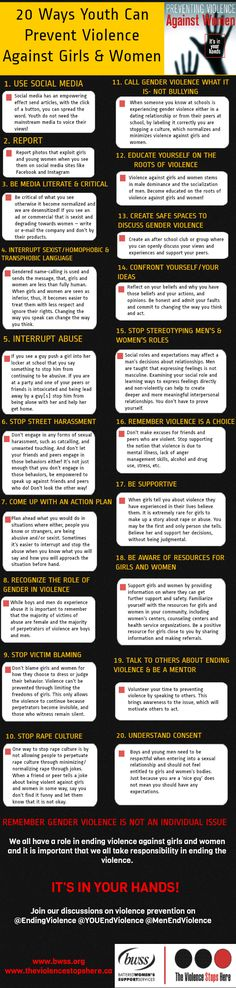 20 ways to prevent violence against women www.nationalsave.org