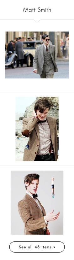"""Matt Smith"" by carillon ❤ liked on Polyvore featuring matt smith, accessories, doctor who, art, photos, people, matt, dr. who, amy pond and dw"