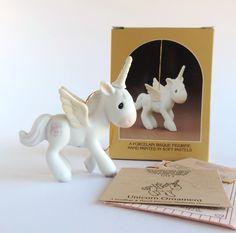 Vintage Precious Moments Unicorn with Wings Ornament, E2371 Retired Figurine…