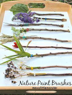 Stick Craft: Nature Paint Brushes
