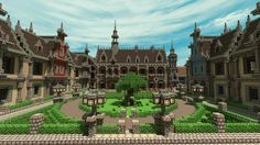 /r/minecraft: 17th century town square (City Project)