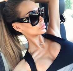 gucci sunglasses The Fashion Ideas List for Today Gucci Sunglasses, Oversized Sunglasses, Black Sunglasses, Polarized Sunglasses, Sunglasses Women, Vintage Sunglasses, Fashion Eye Glasses, Womens Glasses, Mode Outfits