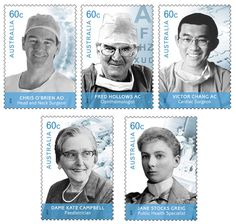 This AusPost stamp issue honours five remarkable clinicians who have contributed to making our health system one of the best in the world.   #stamps  http://auspo.st/SJbAuH