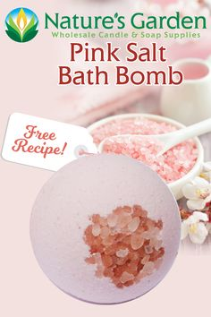 Free Pink Salt Bath Bomb Recipe by Natures Garden
