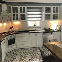 29 Trendy Home Design Kitchen Dining Rooms White Kitchen Cabinets, Kitchen Dining, Kitchen Decor, Dining Rooms, Living Room Interior, Interior Design Kitchen, Küchen Design, House Design, Cuisines Design
