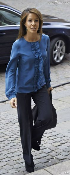 Her Royal Highness Princess Marie of Denmark wearing ELISE GUG