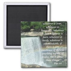 Php 4:8 2 inch square magnet Great #scripture, beautiful #rainbow #gift
