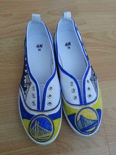 Custom Golden State Warriors Shoes