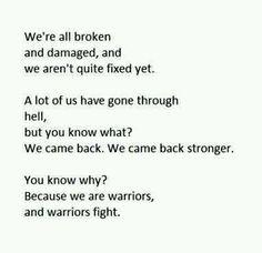 Warriors fight...