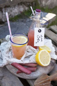 Sofie's Rhubarb & Lemon Cordial | DonalSkehan.com, Perfect for hot summer days.