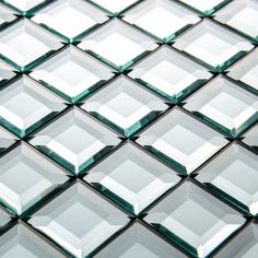 13 Bordi Smussati Diamante Di Cristallo Specchio Mosaico di Vetro Piastrelle per Bagno Decorazione Della Parete Showroom Vetrina FAI DA TE Piastrelle Decorative(China (Mainland))