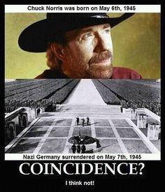 Chuck Norris = the man.
