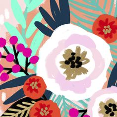 Floral Illustrations, Illustration Art, Arte Elemental, Phoenix Art, Art Inspo, Painting Inspiration, Diy Painting, Diy Art, Flower Art