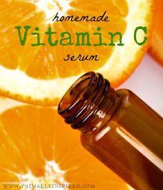 homemade vitamin c serum / http://www.primallyinspired.com/friday-favorites-homemade-vitamin-c-serum/