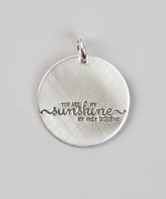 Love this Sterling Silver 'You Are My Sunshine' Charm by Five Little Birds Jewelry on #zulily! #zulilyfinds