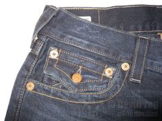 NWT TRUE RELIGION Mens Billy Flap Relaxed Bootcut Jeans Size 30 in Midnight Pass