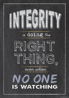 Chalk It Up! Inspire U Poster, Integrity, classroom poster, classroom decor