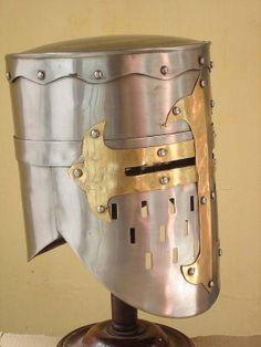 New Medieval Templar CRUSADER Helmet with Masons by crazykraft