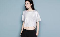 Pull&Bear - femme - t-shirts et tops - t-shirt imprimé - gris vigoré - 09231343-I2014