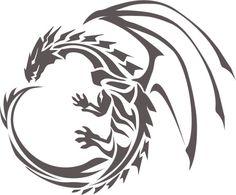 Cute Dragon Tattoo, Tribal Dragon Tattoos, Dragon Tattoo For Women, Chinese Dragon Tattoos, Dragon Tattoo Designs, Game Of Thrones Tattoo, Tatuagem Game Of Thrones, Dessin Game Of Thrones, Easy Dragon Drawings