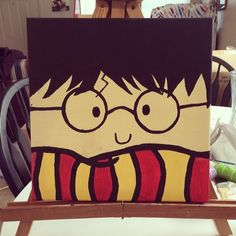 Harry potter hand painted canvas by Stinkyben on Etsy