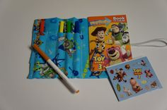TOY STORY Marker Roll with Matching Disney Pixar by buckshotinc, $8.75