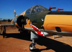 SAAF Mirage III Iai Kfir, South African Air Force, Shark Art, Korean War, Nose Art, North Africa, Helicopters, Military Aircraft, Airplanes