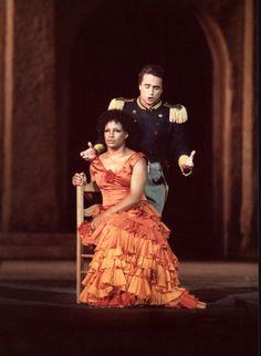 José Carreras, Gail Gilmore.   Carmen by Georges Bizet.  Arena di Verona, 1984. www.arena.it