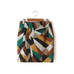 Yoins New Arrivals - Latest and Greatest (€23) ❤ liked on Polyvore featuring mini skirt, patterned mini skirt, brown wool skirt, pattern skirt and short mini skirts