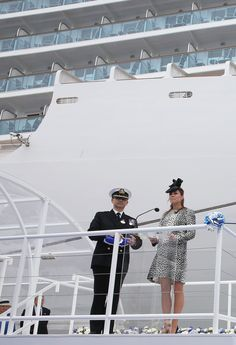 Christening the Princess Liner
