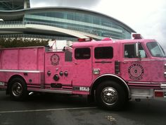 Pink Heals Fire Truck! Pink Truck, Fire Apparatus, Fire Engine, Breast Cancer Awareness, Fire Trucks, Recreational Vehicles, Pretty In Pink, Firefighters, Plays