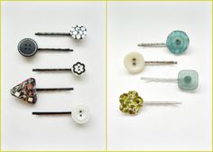 cute- easy - just have to buy the bobby pins.  Why are they called Bobby pins?