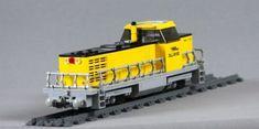 LEGO MOC Trains (Locomotive) CUSTOM Model PDF Instructions Manual Lego Trains, Train Engines, Rolling Stock, Lego Moc, Lego Ideas, Model Trains, Archery, Locomotive, Diesel